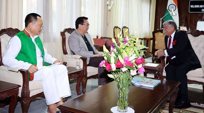 Arunachal: Governor meets Dy CM and Chairman, Public Account Committee