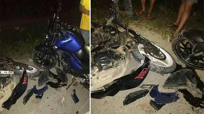 Arunachal: Two Riders injured as motorcycles crash near Dikrong Police Check Gate