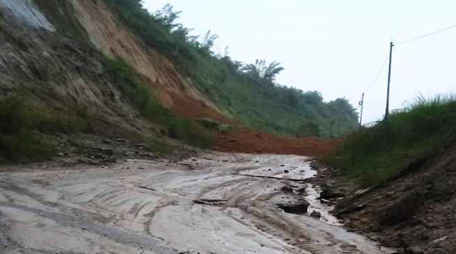 Itanagar: Heavy rainfalls triggers mudslides, water logging in twin capital city