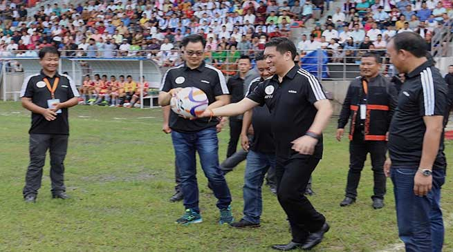 Arunachal CM kicks off 25th Senior Women Football Championship 2019 in Pasighat