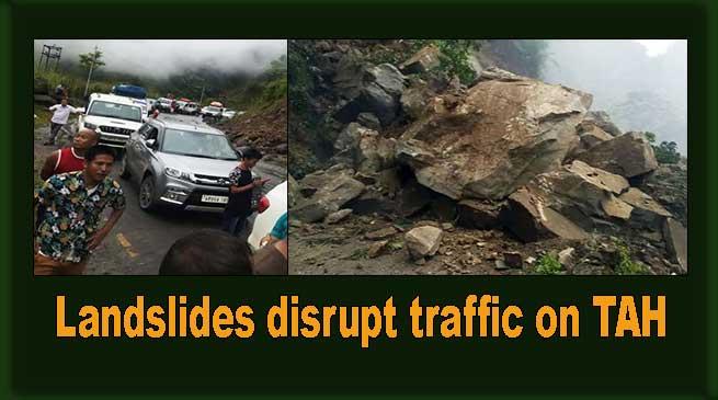 Arunachal: Landslides disrupt traffic on TAH