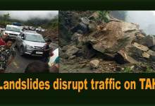Arunachal: Landslides disrupt traffic on TAH