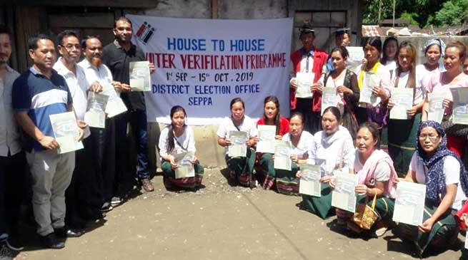 Arunachal: Voter Verification Drive launched in East Kameng