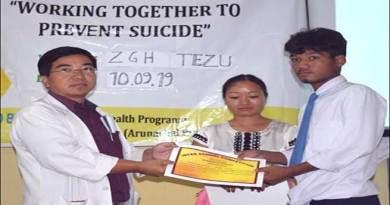 Arunachal: World Suicide Prevention Day observed at Tezu