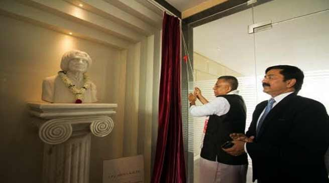 Assam: Education minister unveil the bust of Bharat Ratna A.P.J Adul Kalam at RGU