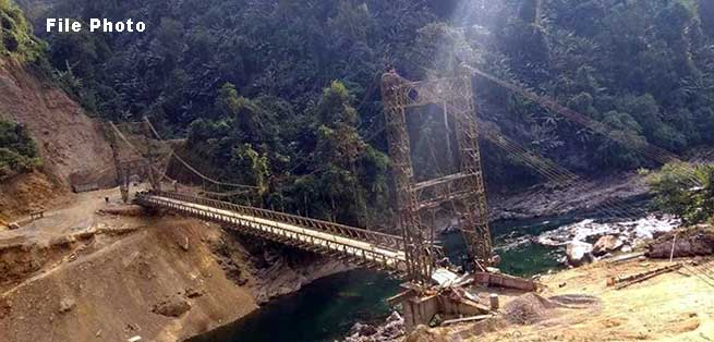 Arunachal: Newly Constructed Bailey bridge over Kumey river collapse