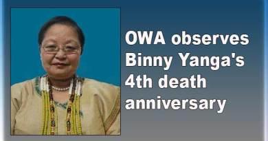 Arunachal: OWA observes Binny Yanga's 4th death anniversary