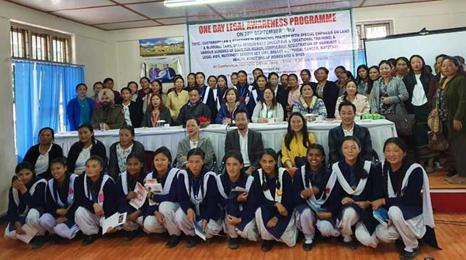 The Arunachal pradesh state commission for women, conducted a day long legal awareness camp cum workshop at Jang, in the Addl. DC  conference hall.