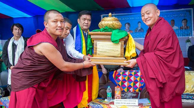 Arunachal CM inaugurates academic building of Guru Tenpai Dronme Lobdra Govt. Primary School at Lhabau