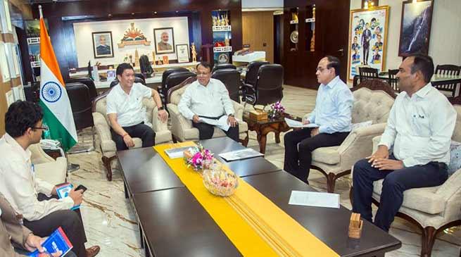Pema Khandu reviews Railway projects in Arunachal Pradesh