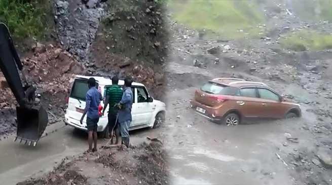 Arunachal: Landslides disrupt traffic on TAH between Doimukh-Potin