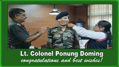 Photo of Major Ponung Doming, First woman from Arunachal promoted to the rank of Lt. Colonel