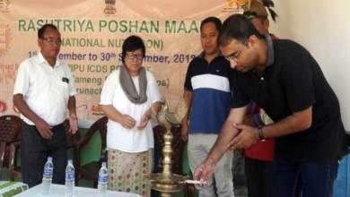 Arunachal: Rashtriya Poshan Maah launched in East Kameng