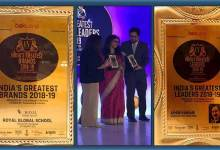 Photo of A K Pansari and RGS awarded with India's greatest leaders and brands 2018-19