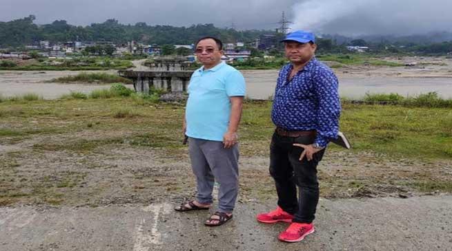 Arunachal: Kaso visits and inspects under construction Borum Railway Bridge