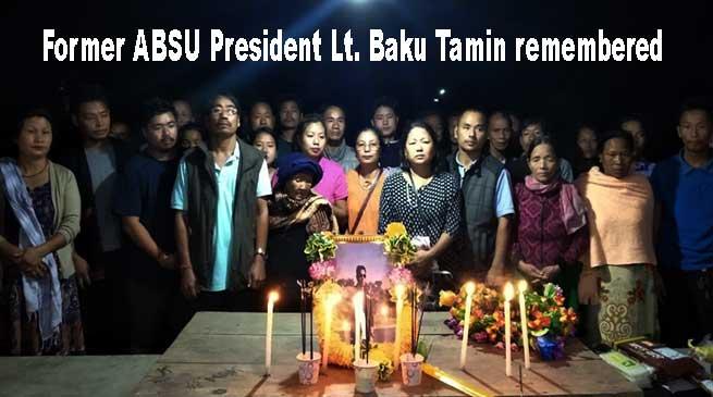 Arunachal: Former ABSU President Lt. Baku Tamin remembered