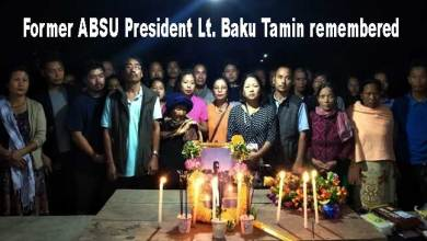 Photo of Arunachal: Former ABSU President Lt. Baku Tamin remembered