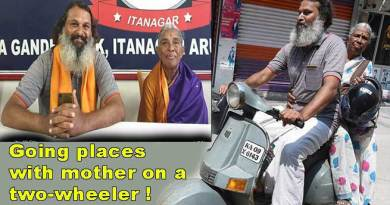 "Mother-son on ""India Darshan"" on 20-years-old scooter"