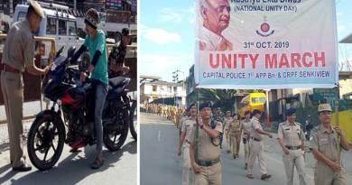 "Itanagar Capital police carried out several activities to mark ""Rashtriya Ekta Diwas"""
