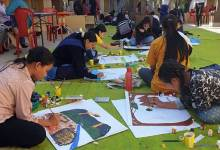 Arunachal literary festival: on-the-spot painting competition held