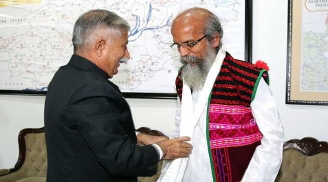 Arunachal: Union MoS (MSME) Pratap Chandra Sarangi calls on the Governor