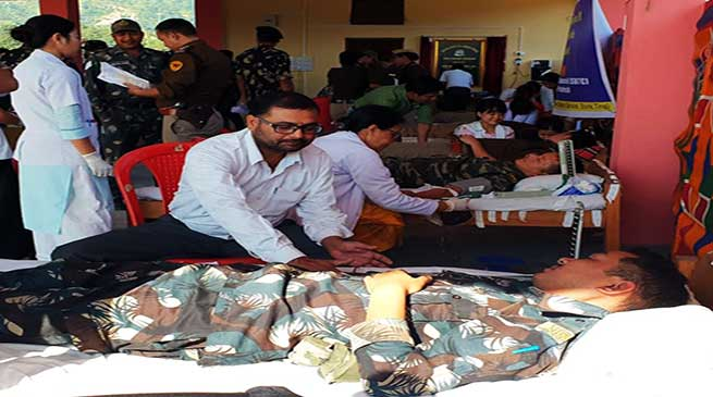 Itanagar:Capital Police personnel's donates 58 unit of blood