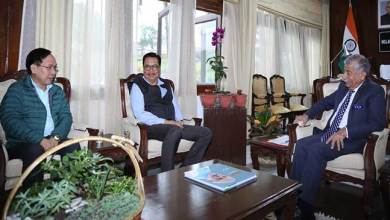 Arunachal: Dy CM Chowna Mein calls on the Governor