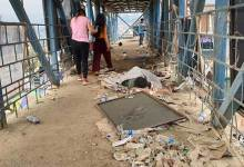 Itanagar: where is Swachhata Abhiyan, asking heap of garbage on foot over bridge