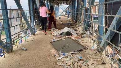 Photo of Itanagar: Where is Swachhata Abhiyan, asks the heap of garbage on foot over bridge
