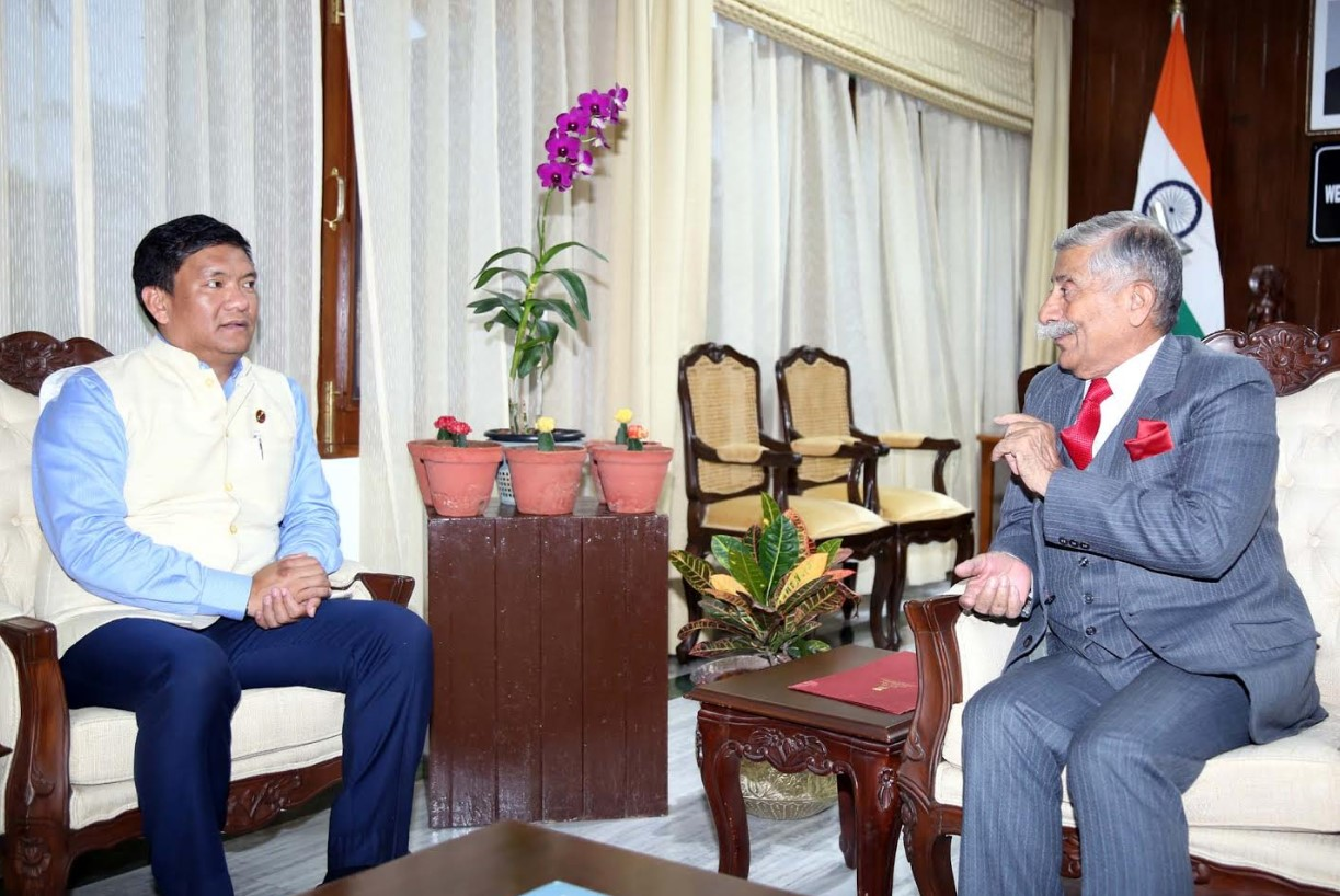 Arunachal: Chief Minister Pema Khandu calls on the Governor