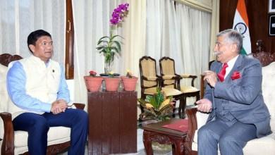 Photo of Arunachal: Chief Minister Pema Khandu calls on the Governor