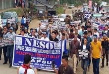 Itanagar: There will be unrest in Northeast if CAB is passed- NESO