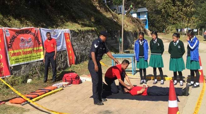Tawang: Awareness and School Safety Programme of DDMA & NDRF Concludes