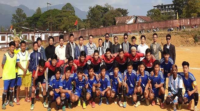 First ever new year football trophy : Barapani FC and Ward No-12 FC to play in final