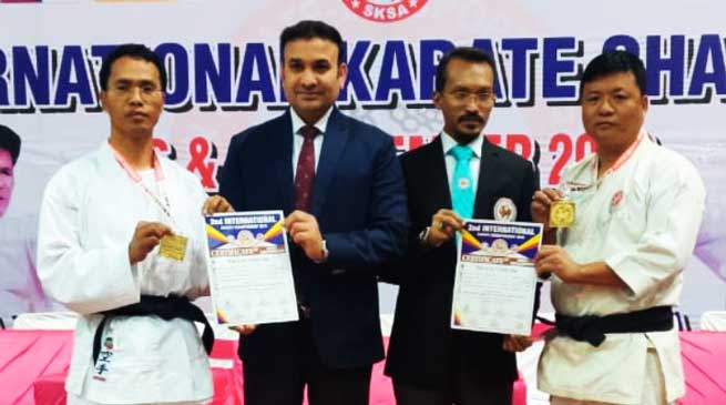 Takam Tatung and Tassar Tania get Gold medal in 2nd International Karate Championship