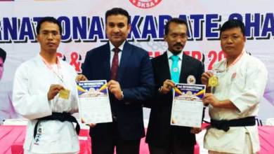 Photo of Takam Tatung and Tassar Tania get Gold medal in 2nd International Karate Championship