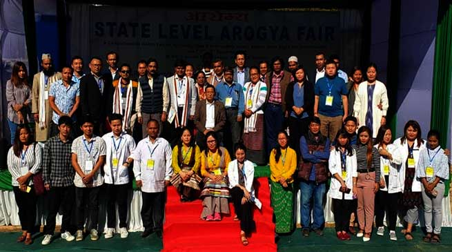 Itanagar: Arogya Mela at IG Park concludes