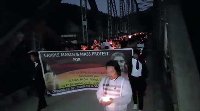 Dr Priyanka Reddy case: Candle march and mass protest in Sagalee