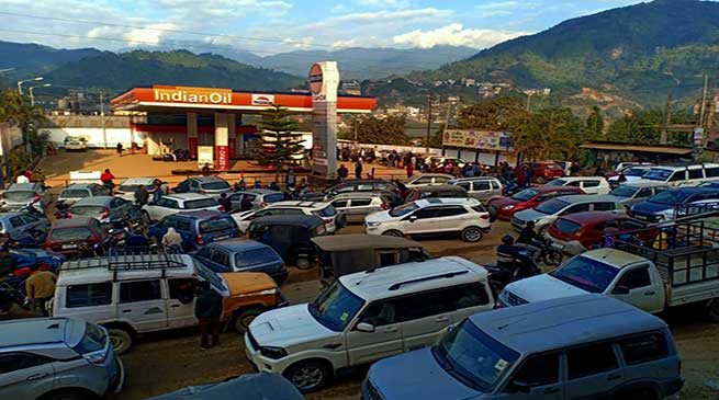 Arunachal: Fuel crisis continue across state