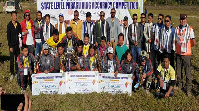 Arunachal: State level paragliding competition 2019 concluded