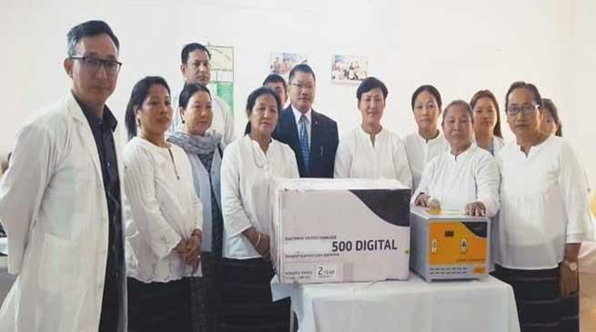 Arunachal: WASE donates Digital Voltage Stabliser to the Blood Bank