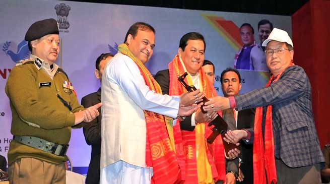 Assam: 1615 NDFB cadres surrender arms, ammunition before CM Sonowal