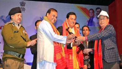 Photo of Assam: 1615 NDFB cadres surrender arms, ammunition before CM Sonowal