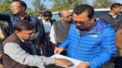 Photo of Arunachal: Chowna Mein inspected football ground at Chongkham