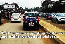 Itanagar: Is traffic rule only for common public and commuters ?