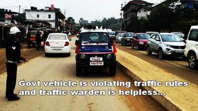 Photo of Itanagar: Is traffic rule only for common public and commuters ?