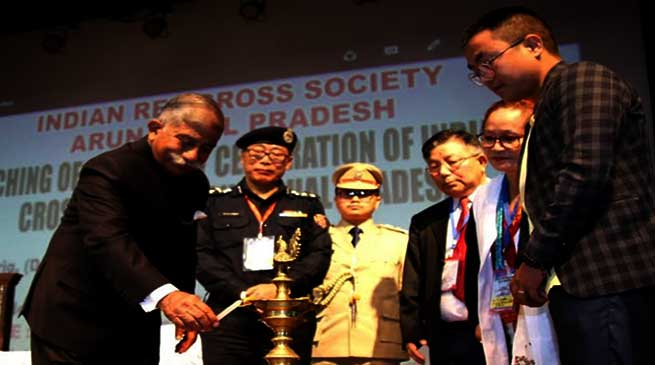 Arunachal Governor launches centenary celebration of Indian Red Cross Society