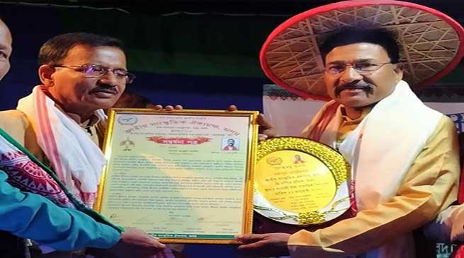 "Arunachal Police Officer honoured with ""Lok Ratna"" Award"