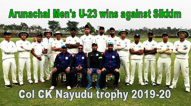 Col CK Nayudu trophy 2019-20: Arunachal Men's U-23 wins against Sikkim