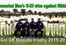 Photo of Col CK Nayudu trophy 2019-20: Arunachal Men's U-23 wins against Sikkim